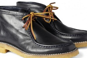 B Store Fargo Crepe-Sole Leather Boots