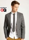 Burton Grey Tweed Slim Fit Blazer