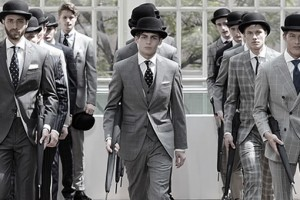 Hackett SS13 Suits: Monochrome Patterns