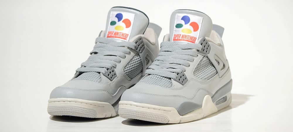 These Custom Nintendo SNES Sneakers Are A Gamer's Dream