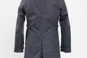 Norwegian Rain Double-Breasted Herringbone Raincoat