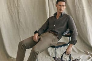 Massimo Dutti Linen Essentials 2017 Men's Lookbook